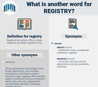 registry, synonym registry, another word for registry, words like registry, thesaurus registry