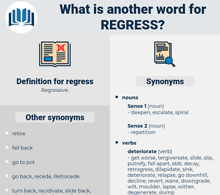 regress, synonym regress, another word for regress, words like regress, thesaurus regress