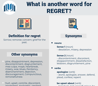 regret, synonym regret, another word for regret, words like regret, thesaurus regret