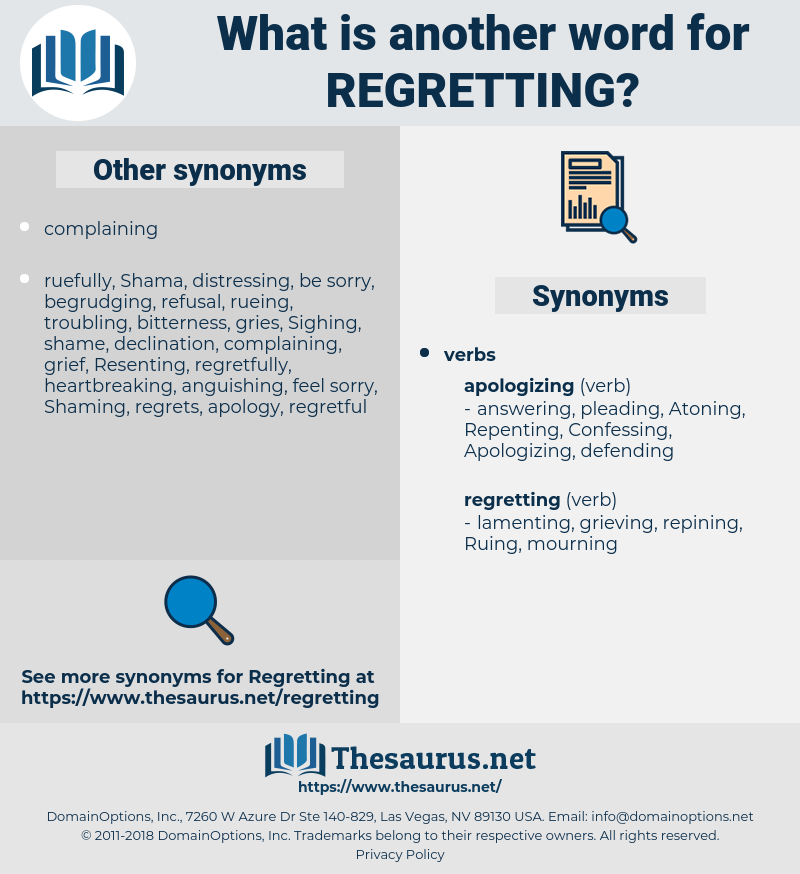 Regretting, synonym Regretting, another word for Regretting, words like Regretting, thesaurus Regretting