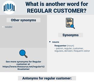 regular customer, synonym regular customer, another word for regular customer, words like regular customer, thesaurus regular customer