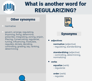 regularizing, synonym regularizing, another word for regularizing, words like regularizing, thesaurus regularizing