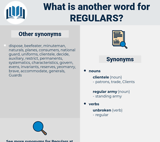 regulars, synonym regulars, another word for regulars, words like regulars, thesaurus regulars