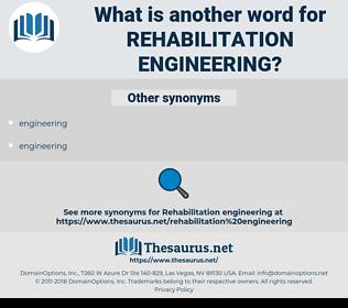 rehabilitation engineering, synonym rehabilitation engineering, another word for rehabilitation engineering, words like rehabilitation engineering, thesaurus rehabilitation engineering