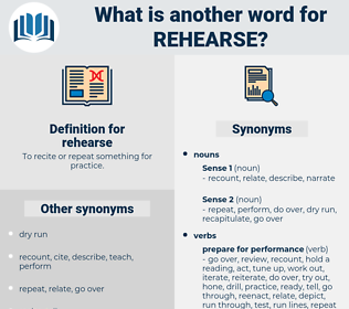 rehearse, synonym rehearse, another word for rehearse, words like rehearse, thesaurus rehearse