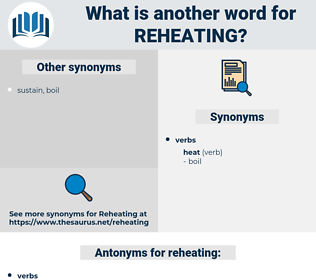 reheating, synonym reheating, another word for reheating, words like reheating, thesaurus reheating