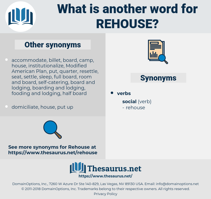 rehouse, synonym rehouse, another word for rehouse, words like rehouse, thesaurus rehouse