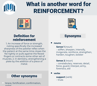 reinforcement, synonym reinforcement, another word for reinforcement, words like reinforcement, thesaurus reinforcement
