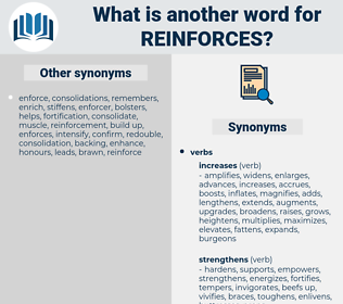 reinforces, synonym reinforces, another word for reinforces, words like reinforces, thesaurus reinforces
