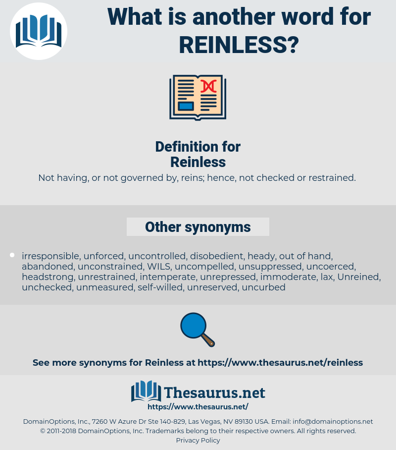 Reinless, synonym Reinless, another word for Reinless, words like Reinless, thesaurus Reinless
