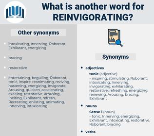 reinvigorating, synonym reinvigorating, another word for reinvigorating, words like reinvigorating, thesaurus reinvigorating