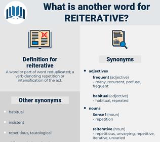 reiterative, synonym reiterative, another word for reiterative, words like reiterative, thesaurus reiterative