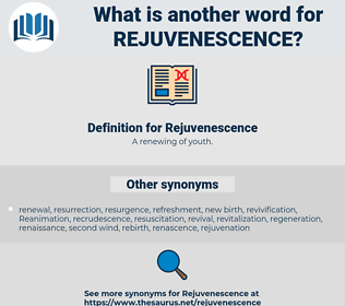 Rejuvenescence, synonym Rejuvenescence, another word for Rejuvenescence, words like Rejuvenescence, thesaurus Rejuvenescence