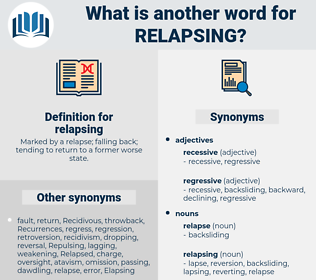relapsing, synonym relapsing, another word for relapsing, words like relapsing, thesaurus relapsing