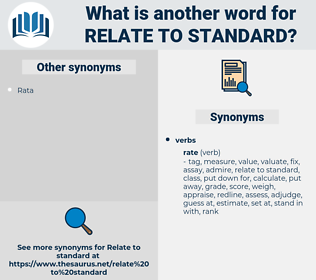 relate to standard, synonym relate to standard, another word for relate to standard, words like relate to standard, thesaurus relate to standard