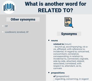 related to, synonym related to, another word for related to, words like related to, thesaurus related to