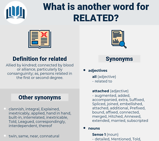 related, synonym related, another word for related, words like related, thesaurus related
