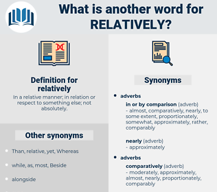 relatively, synonym relatively, another word for relatively, words like relatively, thesaurus relatively