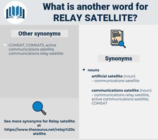 relay satellite, synonym relay satellite, another word for relay satellite, words like relay satellite, thesaurus relay satellite