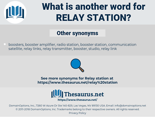 relay station, synonym relay station, another word for relay station, words like relay station, thesaurus relay station