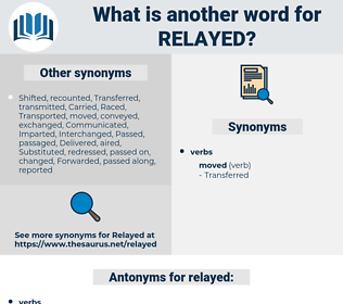 relayed, synonym relayed, another word for relayed, words like relayed, thesaurus relayed