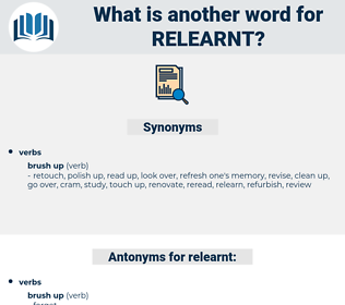 relearnt, synonym relearnt, another word for relearnt, words like relearnt, thesaurus relearnt
