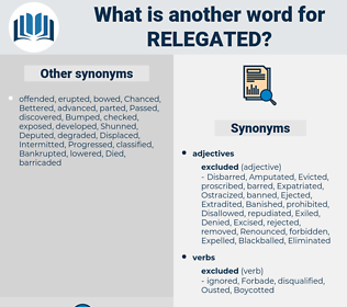 Relegated, synonym Relegated, another word for Relegated, words like Relegated, thesaurus Relegated