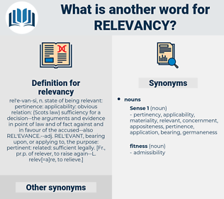 relevancy, synonym relevancy, another word for relevancy, words like relevancy, thesaurus relevancy