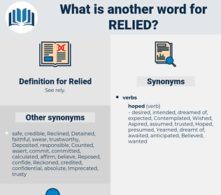 Relied, synonym Relied, another word for Relied, words like Relied, thesaurus Relied