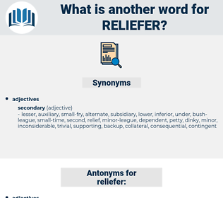 reliefer, synonym reliefer, another word for reliefer, words like reliefer, thesaurus reliefer