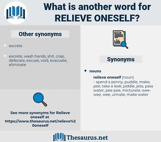 relieve oneself, synonym relieve oneself, another word for relieve oneself, words like relieve oneself, thesaurus relieve oneself