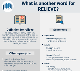 relieve, synonym relieve, another word for relieve, words like relieve, thesaurus relieve