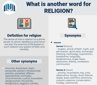 religion, synonym religion, another word for religion, words like religion, thesaurus religion