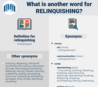 relinquishing, synonym relinquishing, another word for relinquishing, words like relinquishing, thesaurus relinquishing