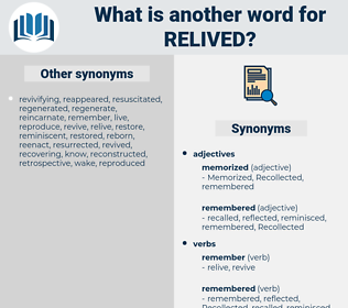 relived, synonym relived, another word for relived, words like relived, thesaurus relived