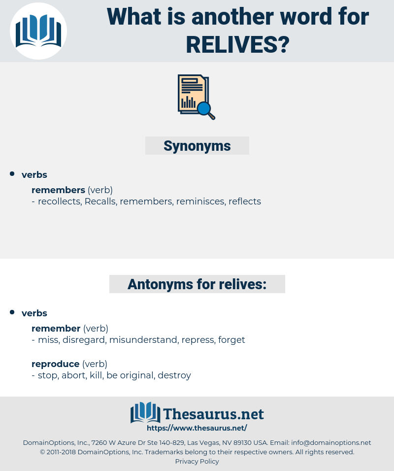 relives, synonym relives, another word for relives, words like relives, thesaurus relives