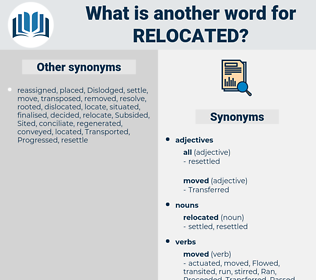 relocated, synonym relocated, another word for relocated, words like relocated, thesaurus relocated