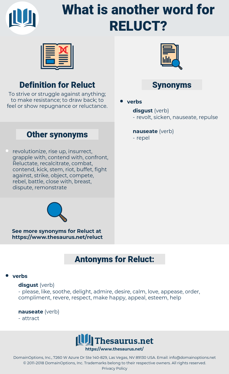 Reluct, synonym Reluct, another word for Reluct, words like Reluct, thesaurus Reluct