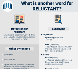 reluctant, synonym reluctant, another word for reluctant, words like reluctant, thesaurus reluctant