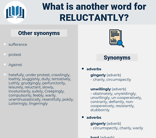 reluctantly, synonym reluctantly, another word for reluctantly, words like reluctantly, thesaurus reluctantly