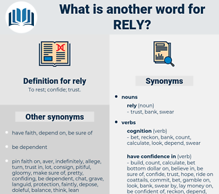 rely, synonym rely, another word for rely, words like rely, thesaurus rely