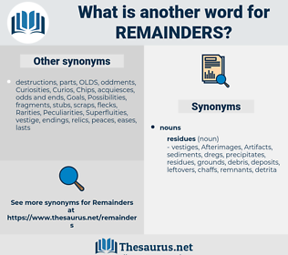 remainders, synonym remainders, another word for remainders, words like remainders, thesaurus remainders