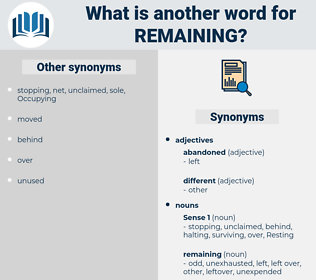remaining, synonym remaining, another word for remaining, words like remaining, thesaurus remaining