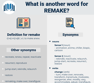 remake, synonym remake, another word for remake, words like remake, thesaurus remake
