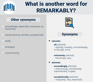 remarkably, synonym remarkably, another word for remarkably, words like remarkably, thesaurus remarkably