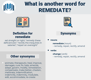 remediate, synonym remediate, another word for remediate, words like remediate, thesaurus remediate