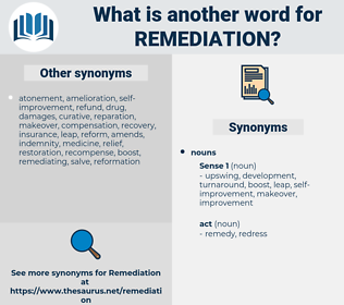 remediation, synonym remediation, another word for remediation, words like remediation, thesaurus remediation