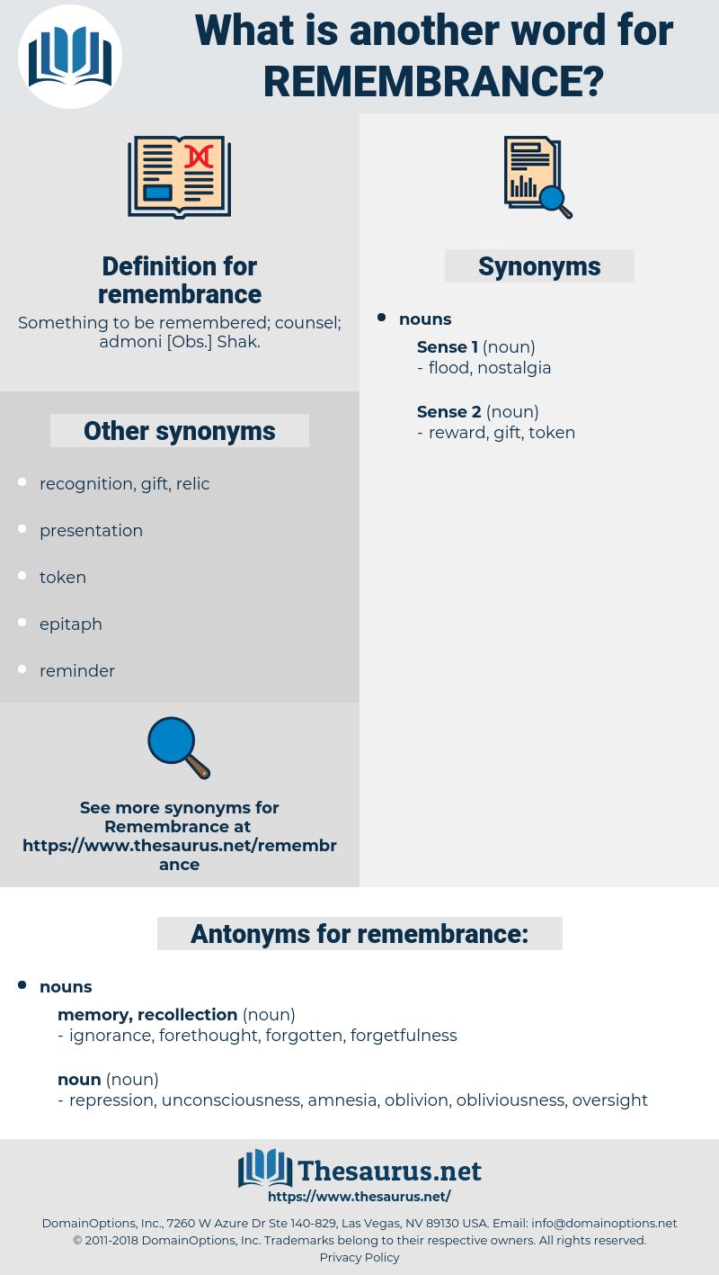 remembrance, synonym remembrance, another word for remembrance, words like remembrance, thesaurus remembrance