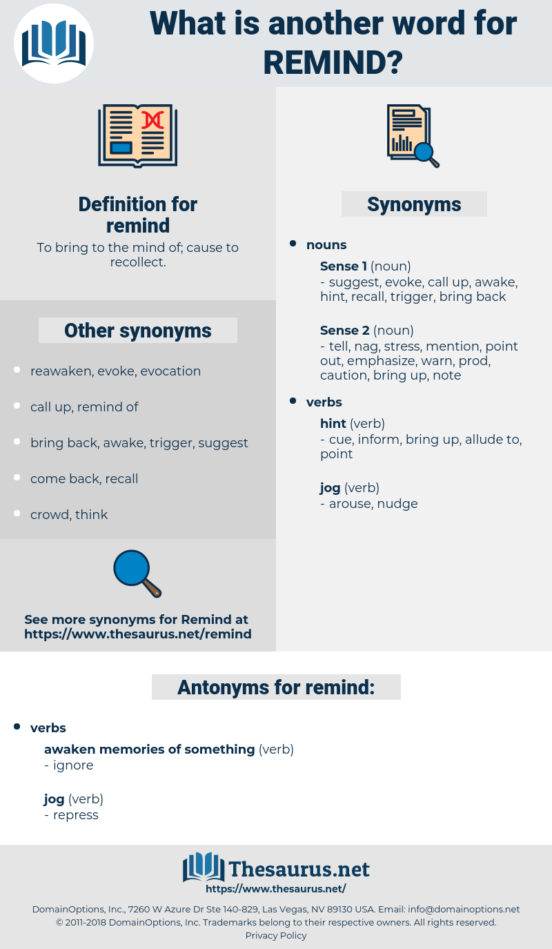 remind, synonym remind, another word for remind, words like remind, thesaurus remind