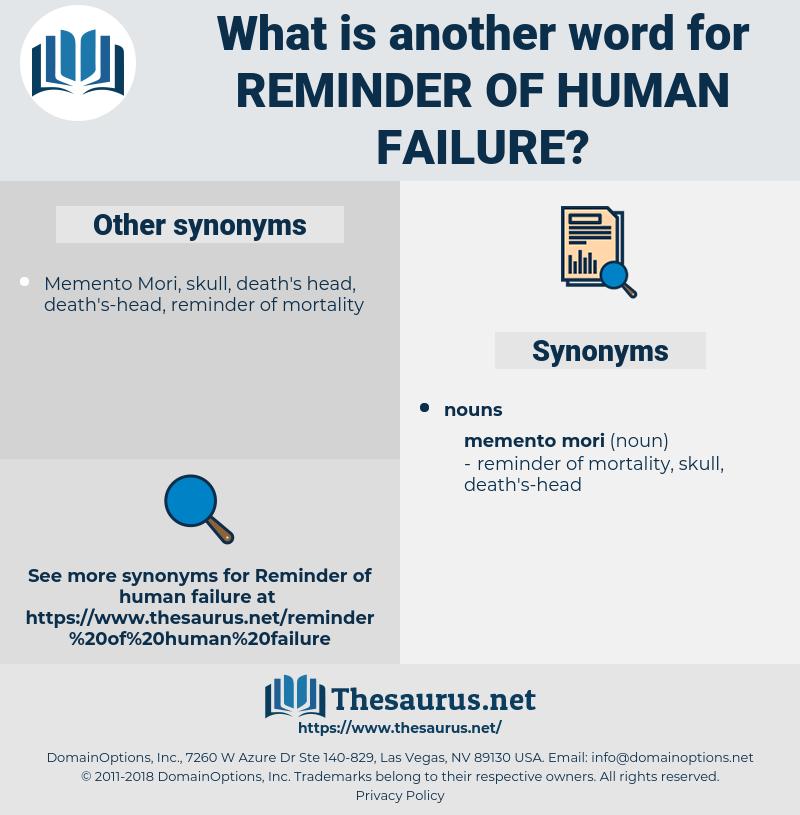 reminder of human failure, synonym reminder of human failure, another word for reminder of human failure, words like reminder of human failure, thesaurus reminder of human failure